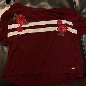 Burgundy hollister shirt